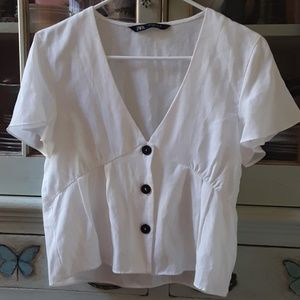 White blouse size small